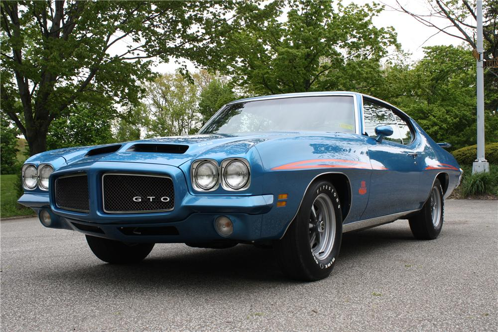 1971 PONTIAC GTO JUDGE 2 DOOR HARDTOP - Front 3/4 - 161379
