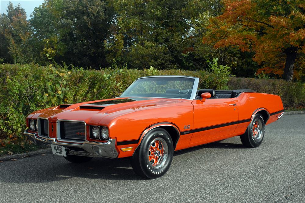 1972 OLDSMOBILE 442 W30 CONVERTIBLE - Front 3/4 - 161380