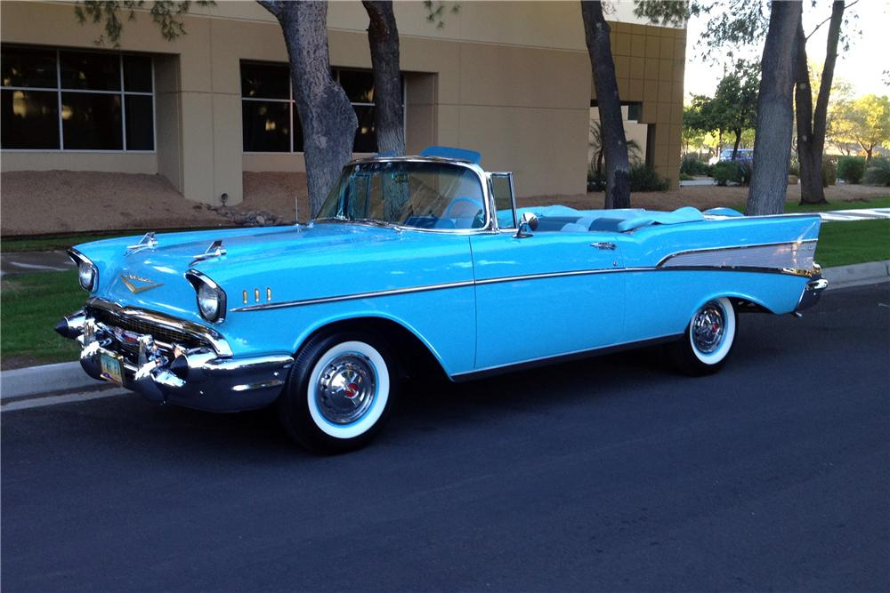 1957 CHEVROLET BEL AIR CONVERTIBLE - Side Profile - 161384