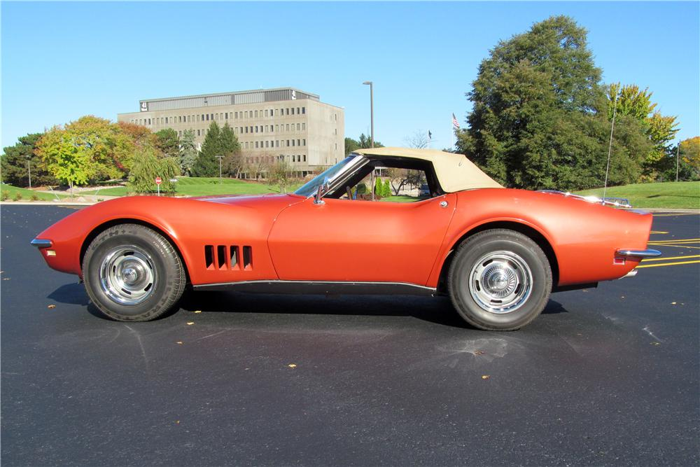 1968 CHEVROLET CORVETTE CONVERTIBLE - Side Profile - 161390
