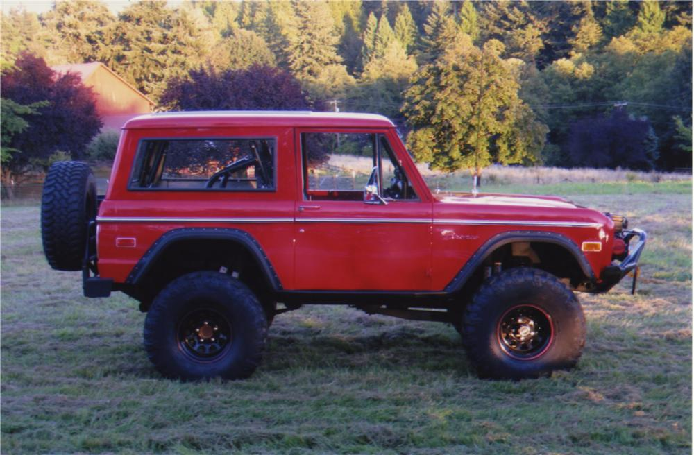 1975 FORD BRONCO CUSTOM SUV - Side Profile - 161395