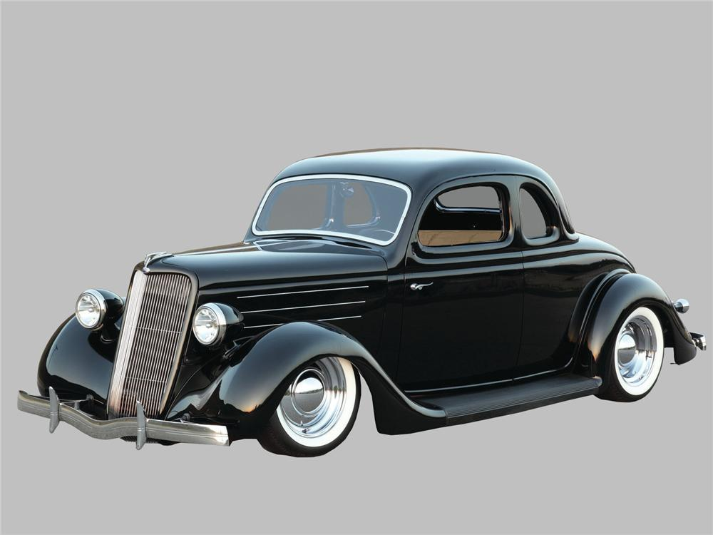 1935 CHEVROLET CUSTOM 2 DOOR COUPE - Front 3/4 - 161405