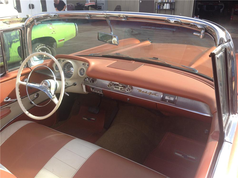 1957 CHEVROLET BEL AIR CUSTOM CONVERTIBLE - Interior - 161428