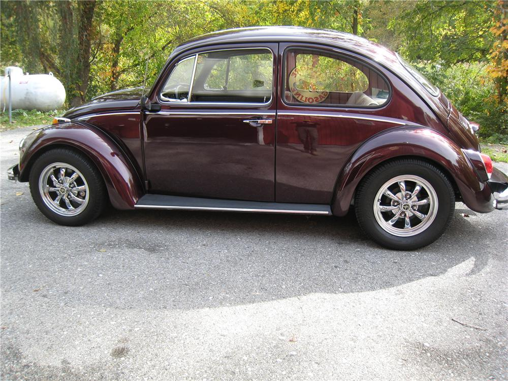 1969 VOLKSWAGEN BEETLE 2 DOOR SEDAN - Side Profile - 161455