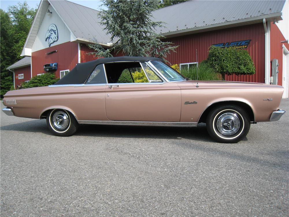 1965 PLYMOUTH SATELLITE CONVERTIBLE - Side Profile - 161463