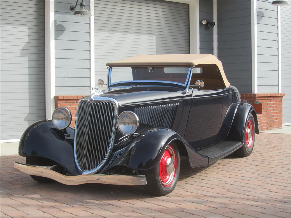 1934 FORD MODEL A CUSTOM ROADSTER - Front 3/4 - 161466
