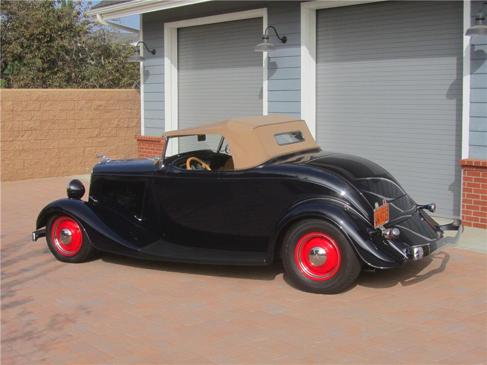 1934 FORD MODEL A CUSTOM ROADSTER - Rear 3/4 - 161466