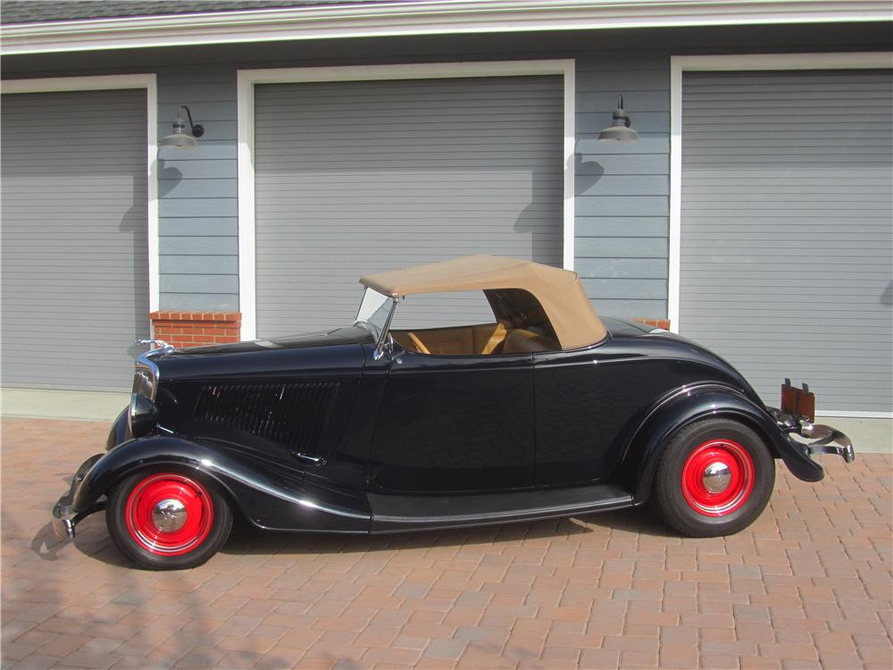 1934 FORD MODEL A CUSTOM ROADSTER - Side Profile - 161466
