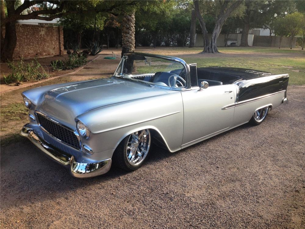1955 CHEVROLET BEL AIR CUSTOM CONVERTIBLE - Front 3/4 - 161467