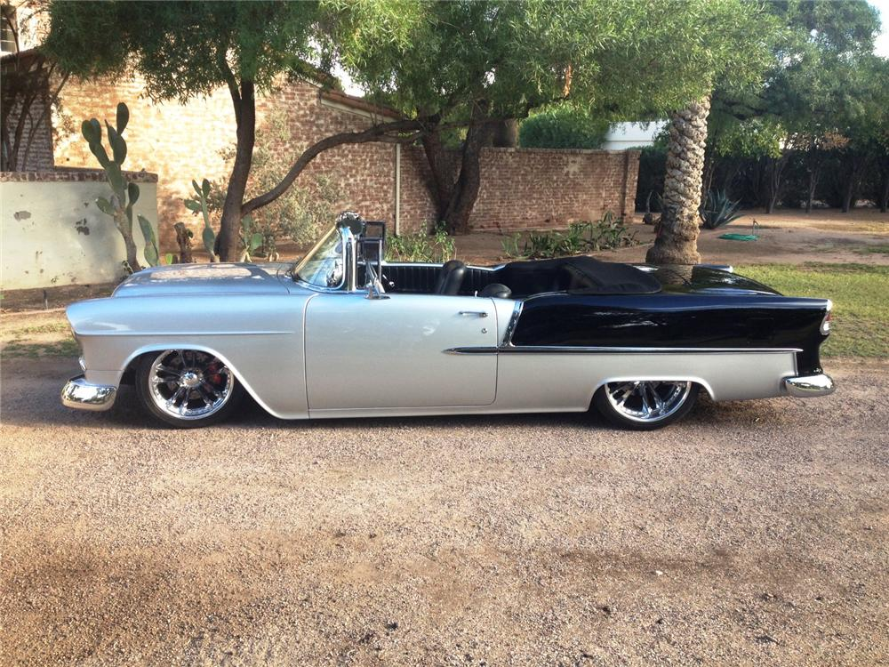 1955 CHEVROLET BEL AIR CUSTOM CONVERTIBLE - Side Profile - 161467