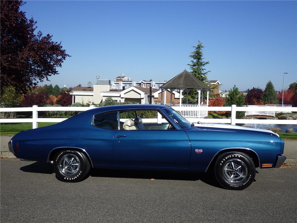 1970 CHEVROLET CHEVELLE SS LS6 2 DOOR HARDTOP - Side Profile - 161470