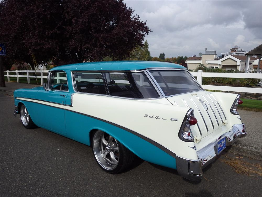 1956 CHEVROLET NOMAD CUSTOM WAGON - Rear 3/4 - 161471