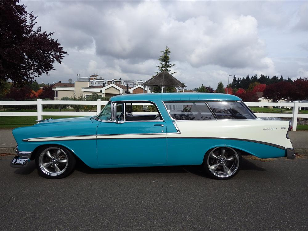1956 CHEVROLET NOMAD CUSTOM WAGON - Side Profile - 161471