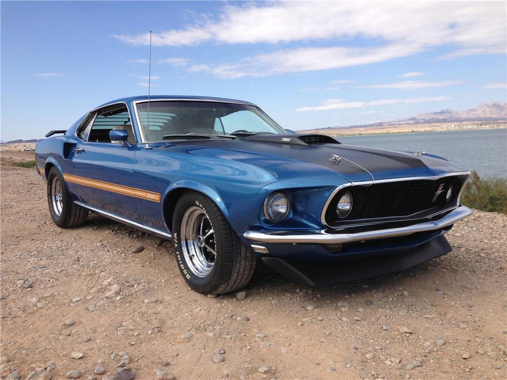 1969 FORD MUSTANG MACH 1 FASTBACK - Front 3/4 - 161473
