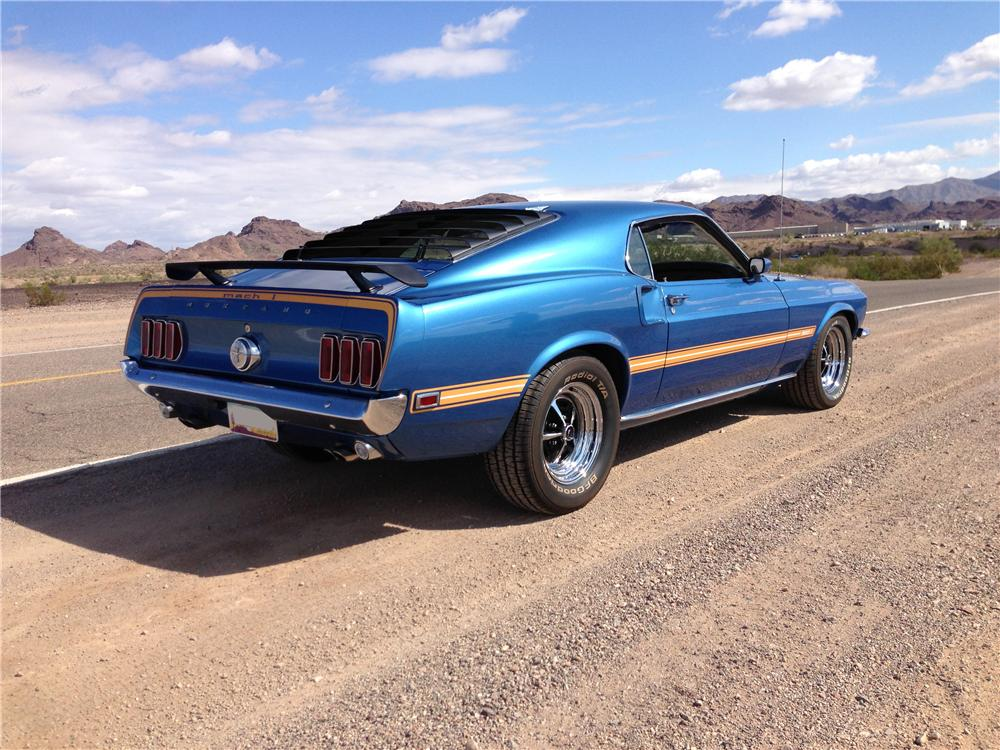 1969 FORD MUSTANG MACH 1 FASTBACK - Rear 3/4 - 161473