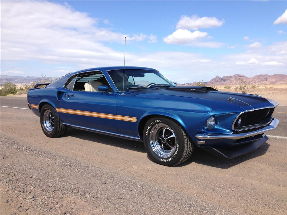 1969 FORD MUSTANG MACH 1 FASTBACK - Side Profile - 161473