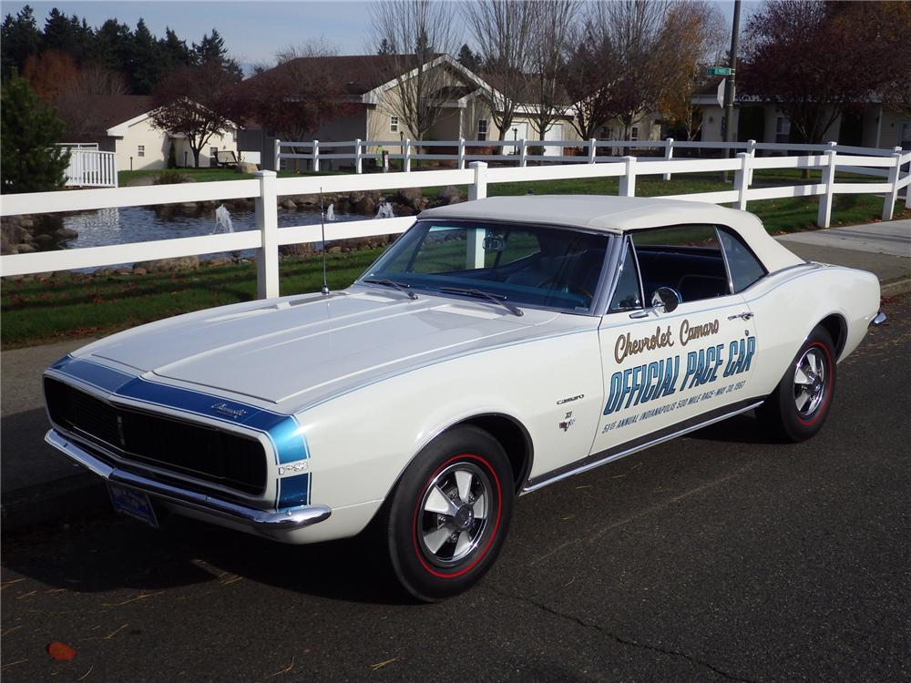 1967 CHEVROLET CAMARO RS INDY PACE CAR CONVERTIBLE - Front 3/4 - 161480
