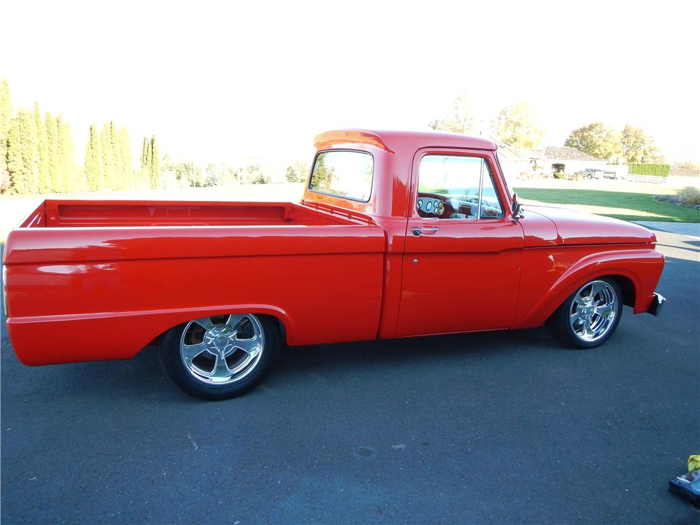 1966 FORD F-100 CUSTOM PICKUP - Side Profile - 161484