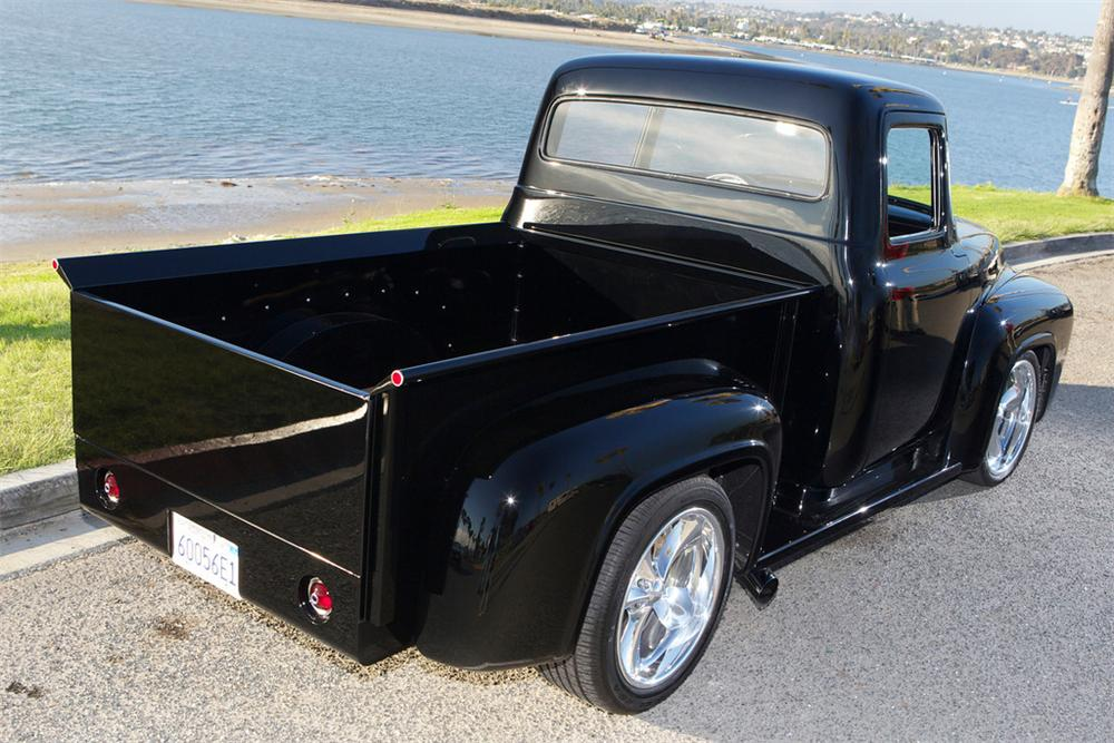 1956 FORD F-100 CUSTOM PICKUP - Rear 3/4 - 161492