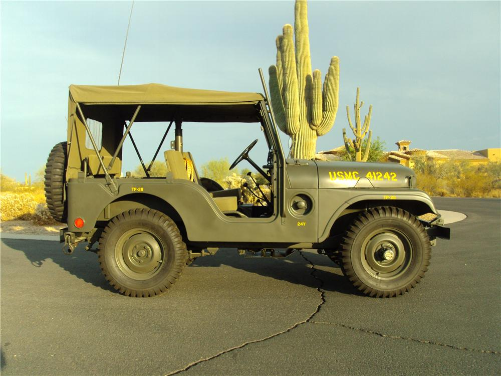 1953 WILLYS MILITARY JEEP  - Side Profile - 161505