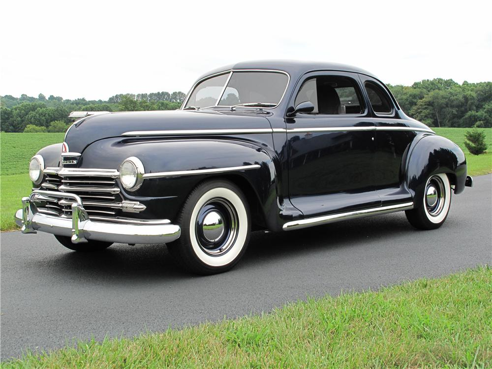 1947 PLYMOUTH CUSTOM 2 DOOR COUPE - Front 3/4 - 161510