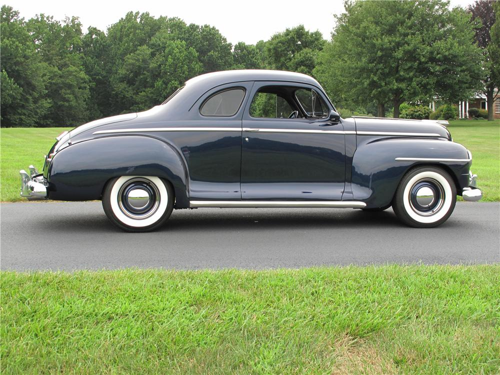 1947 PLYMOUTH CUSTOM 2 DOOR COUPE - Side Profile - 161510