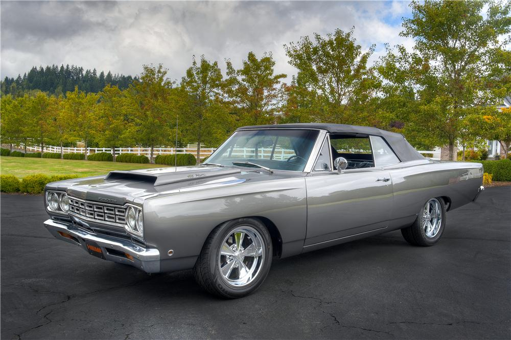1968 PLYMOUTH SATELLITE CUSTOM CONVERTIBLE - Front 3/4 - 161523