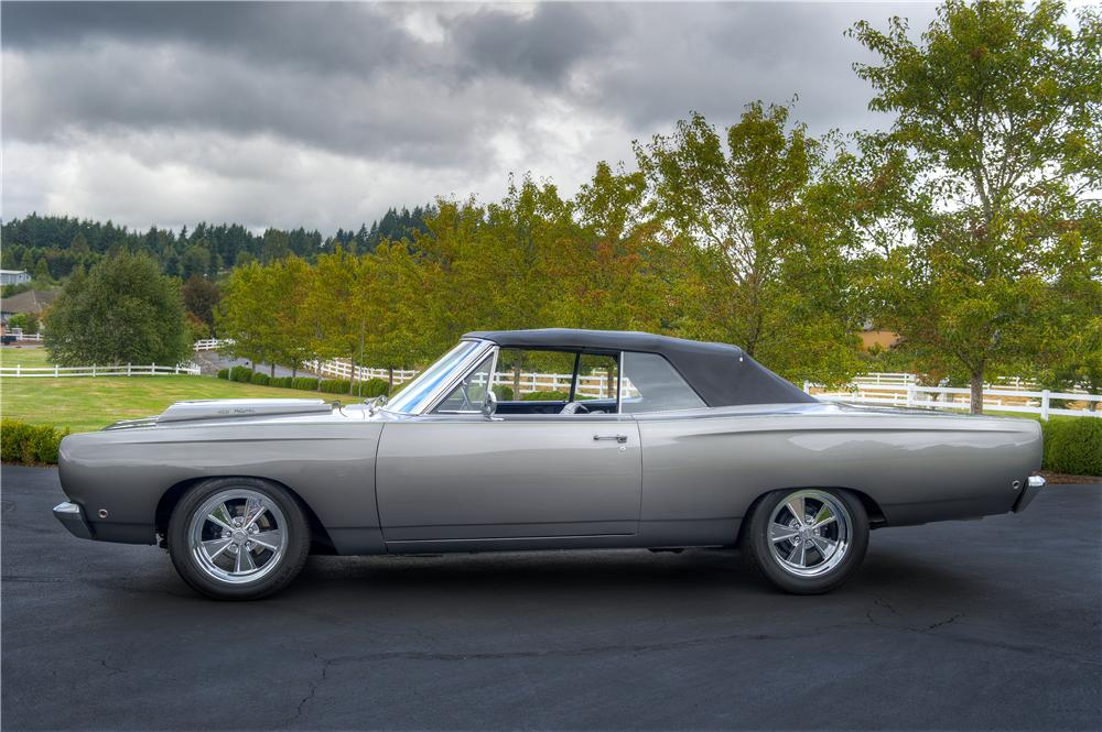1968 PLYMOUTH SATELLITE CUSTOM CONVERTIBLE - Side Profile - 161523
