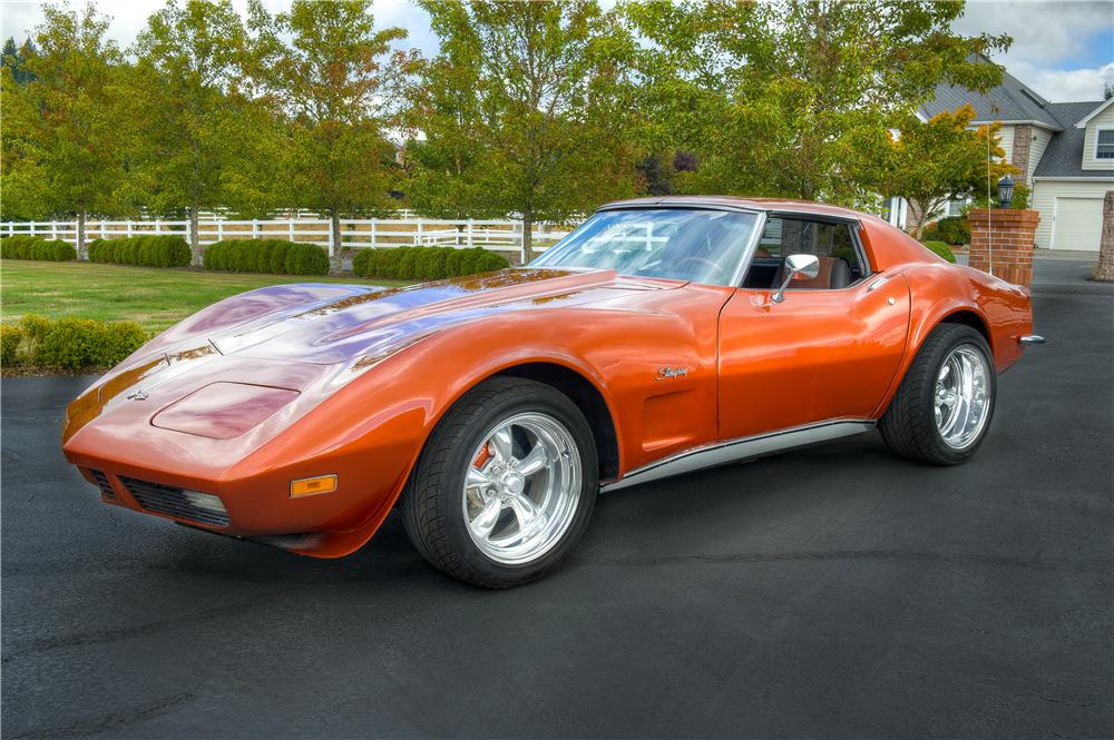 1971 CHEVROLET CORVETTE CUSTOM 2 DOOR COUPE - Front 3/4 - 161529