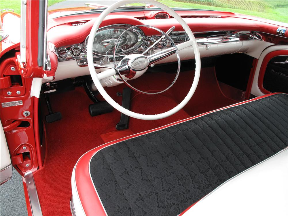 1957 OLDSMOBILE 98 2 DOOR HARDTOP - Interior - 161535
