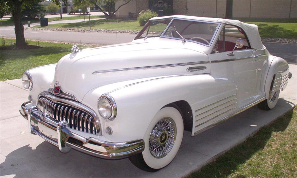 1948 BUICK CUSTOM ROADMASTER CONVERTIBLE - Front 3/4 - 16154