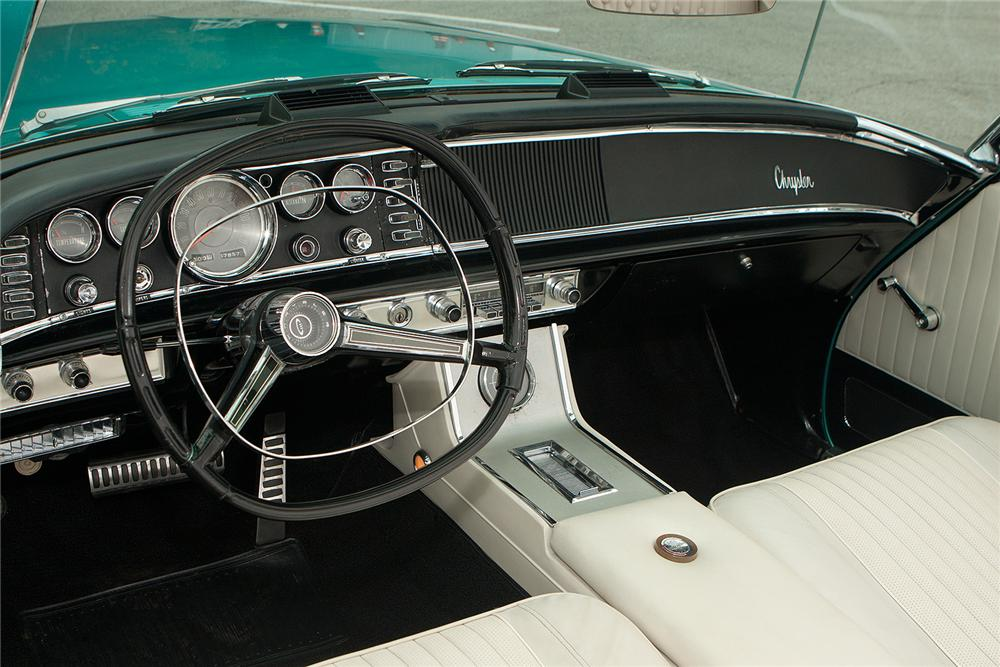 1963 CHRYSLER 300 PACE SETTER CONVERTIBLE - Interior - 161540
