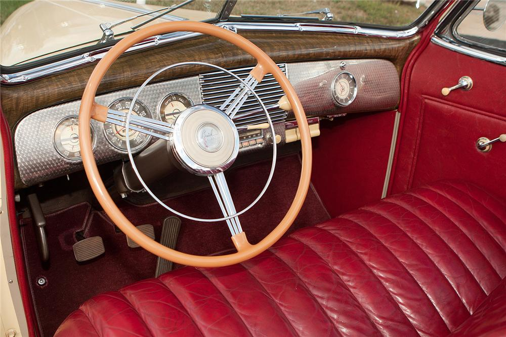 1940 BUICK SPECIAL CONVERTIBLE - Interior - 161541