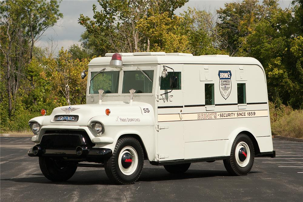 1955 GMC ARMORED TRUCK - Front 3/4 - 161544