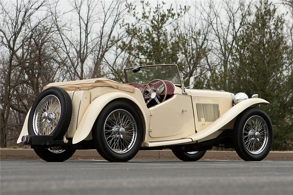 1949 MG TC ROADSTER - Side Profile - 161547