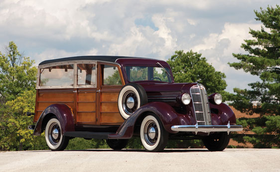 1936 DODGE WESTCHESTER SUBURBAN WOODY - Front 3/4 - 161553