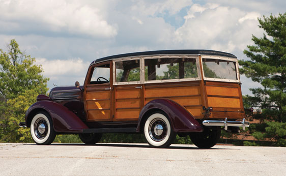 1936 DODGE WESTCHESTER SUBURBAN WOODY - Rear 3/4 - 161553