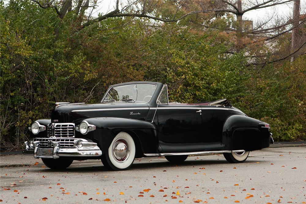 1948 LINCOLN CONVERTIBLE - Front 3/4 - 161554