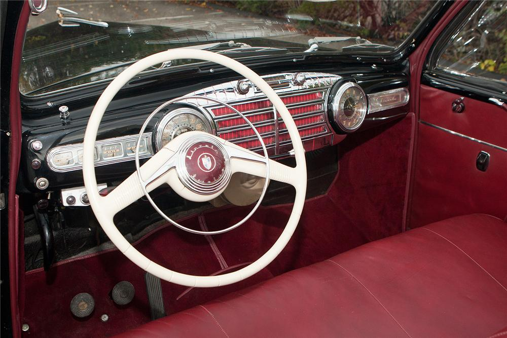 1948 LINCOLN CONVERTIBLE - Interior - 161554
