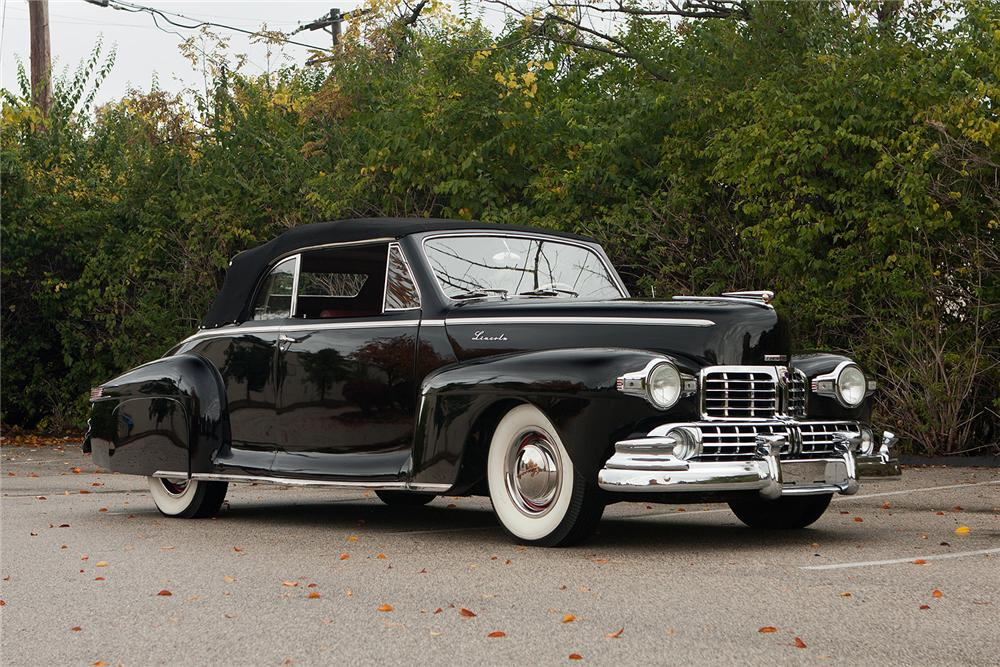 1948 LINCOLN CONVERTIBLE - Side Profile - 161554