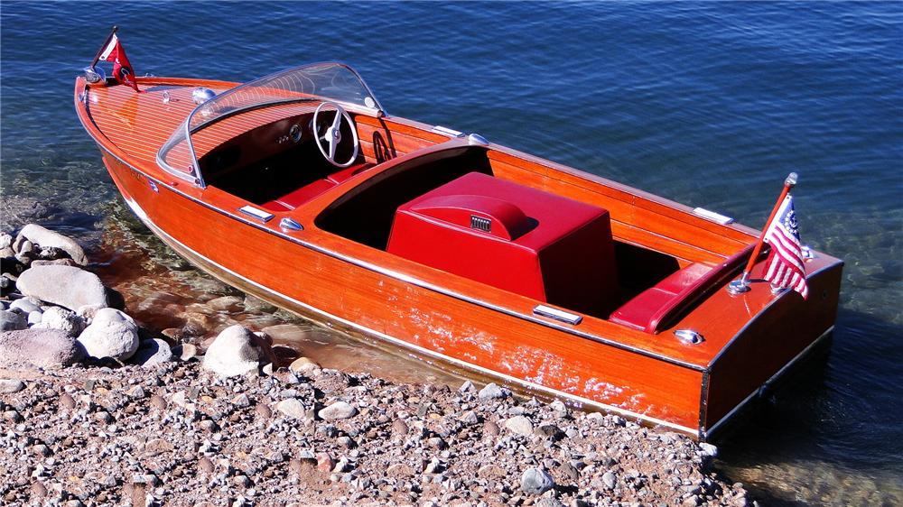 1956 CHRISCRAFT SPORTSMAN 17 MAHOGANY BOAT - Rear 3/4 - 161568