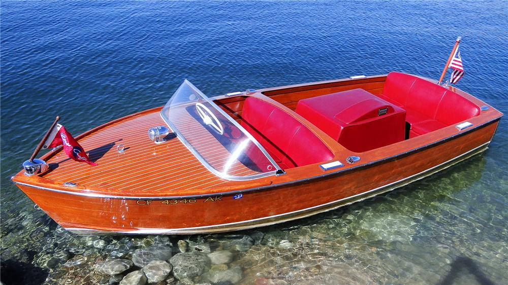 1956 CHRISCRAFT SPORTSMAN 17 MAHOGANY BOAT - Side Profile - 161568