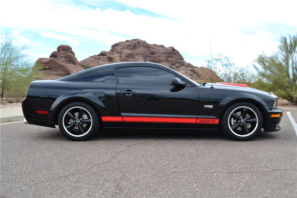 2008 SHELBY GT BARRETT-JACKSON EDITION COUPE - Side Profile - 161575
