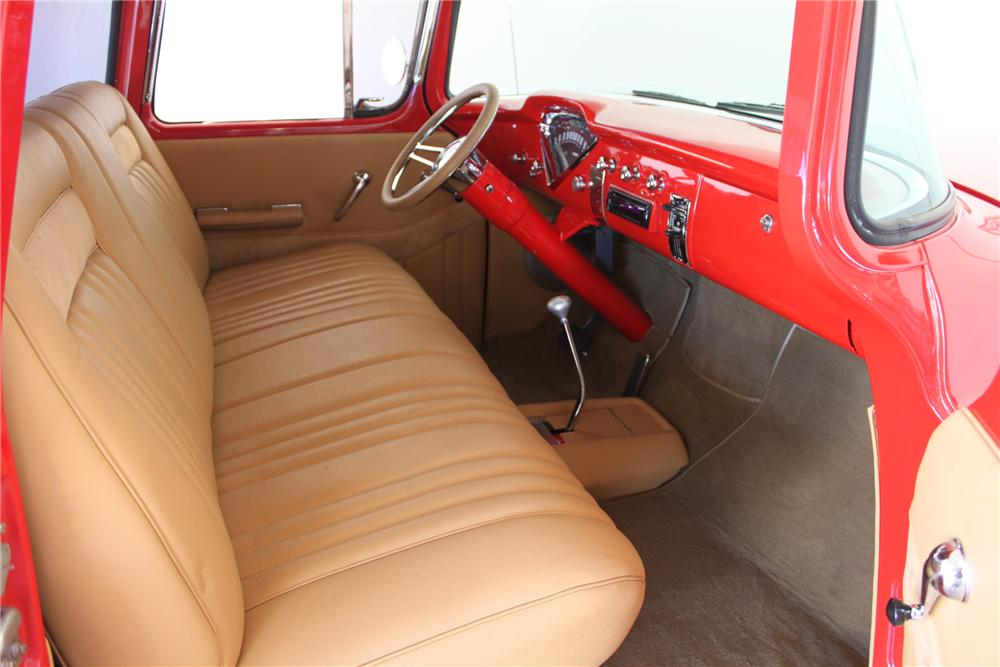 1955 CHEVROLET 3100 CUSTOM PICKUP - Interior - 161582