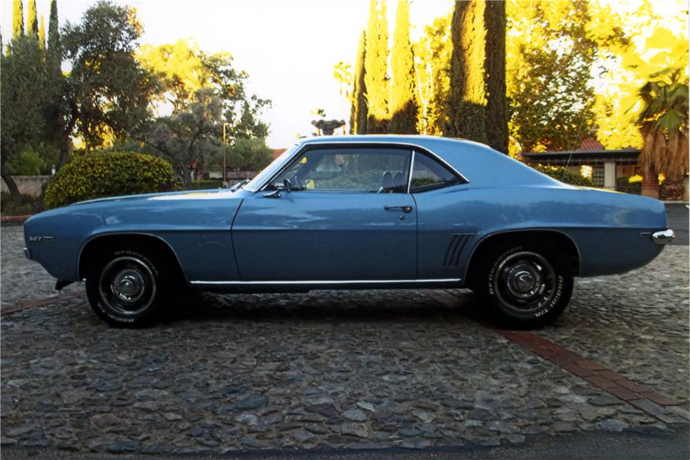 1969 CHEVROLET CAMARO 2 DOOR COUPE - Side Profile - 161584