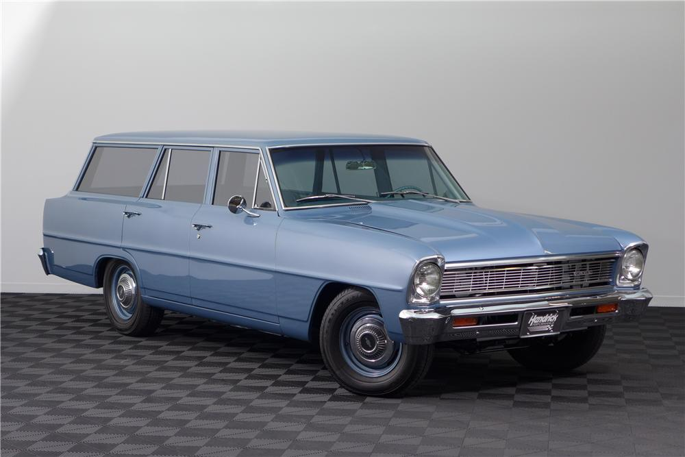1966 CHEVROLET NOVA CUSTOM STATION WAGON - Front 3/4 - 161588