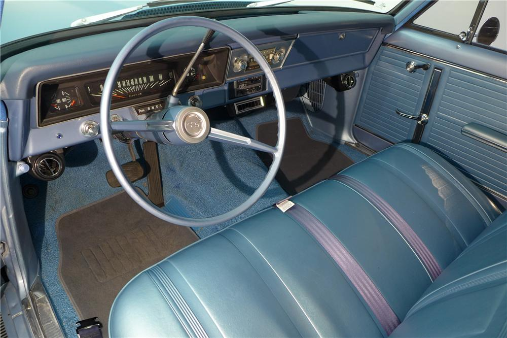 1966 CHEVROLET NOVA CUSTOM STATION WAGON - Interior - 161588