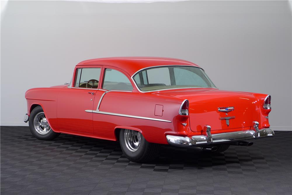 1955 CHEVROLET 210 CUSTOM 2 DOOR SEDAN - Rear 3/4 - 161599