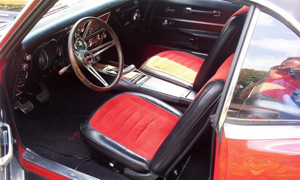 1968 CHEVROLET CAMARO RS/SS CUSTOM COUPE - Interior - 16160