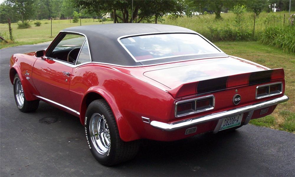 1968 CHEVROLET CAMARO RS/SS CUSTOM COUPE - Rear 3/4 - 16160